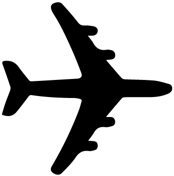 Airplane Silhouette 5A LAK 16 D Aviation Wall Decal