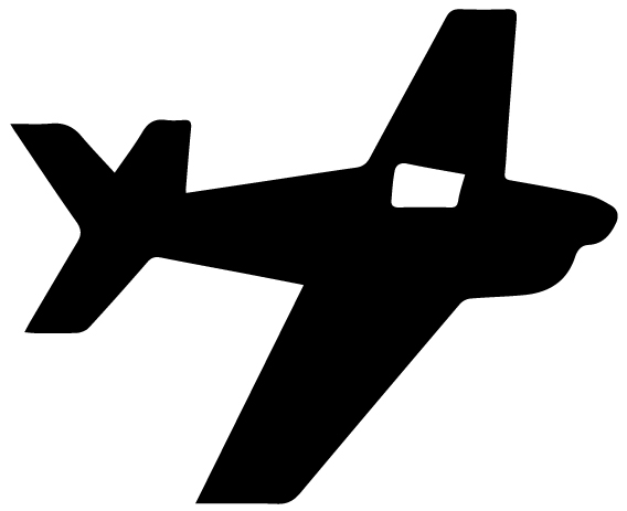 Airplane Silhouette 6A LAK 16 F Aviation Wall Decal