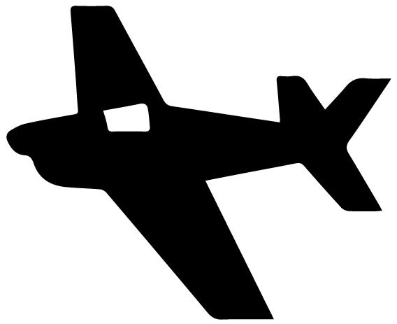Airplane Silhouette 6B LAK 16 G Aviation Wall Decal