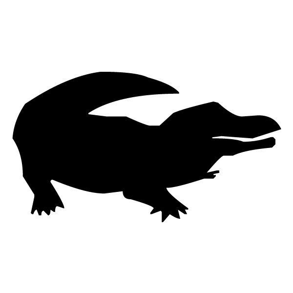 Alligator Silhouette A LAK 15-4 Jungle Wall Decal
