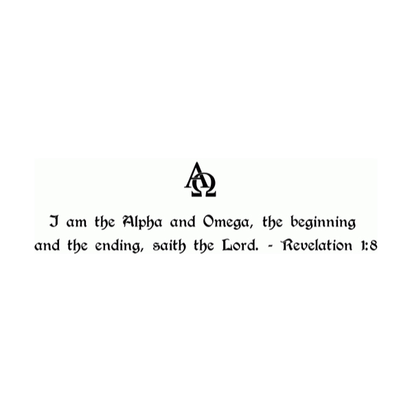 I Am the Alpha and Omega Wall Decal