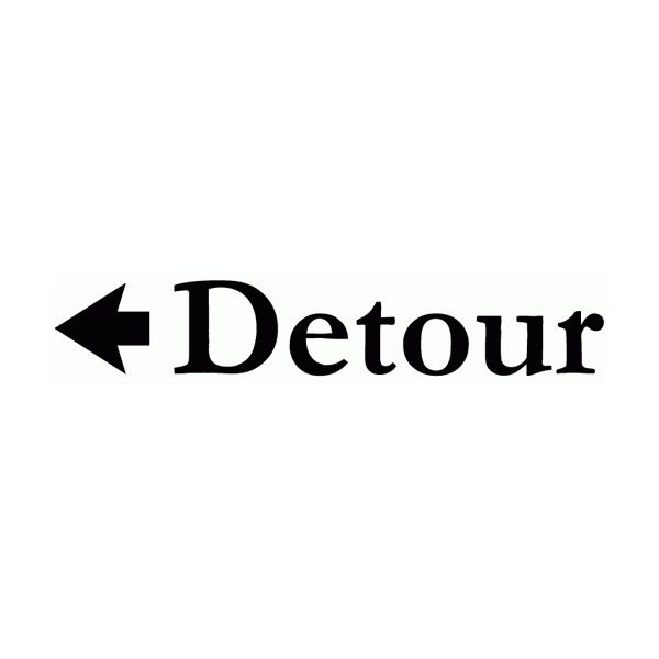 Detour Wall Decal