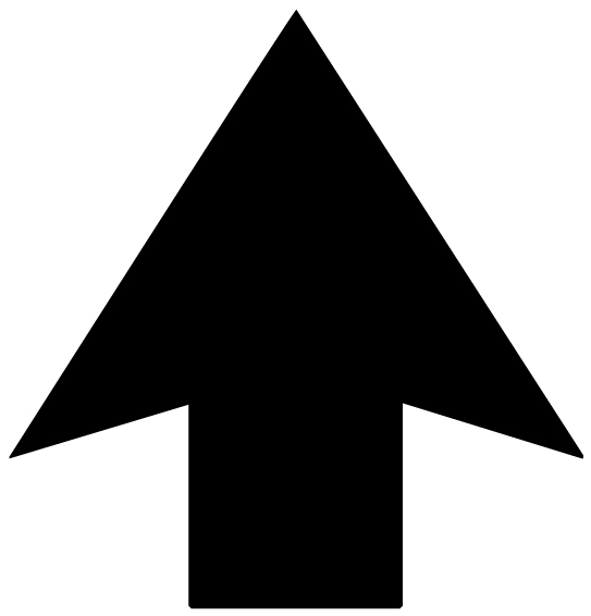 Arrow Fourteen Pointing up Lettering Art 17 s Wall Decal
