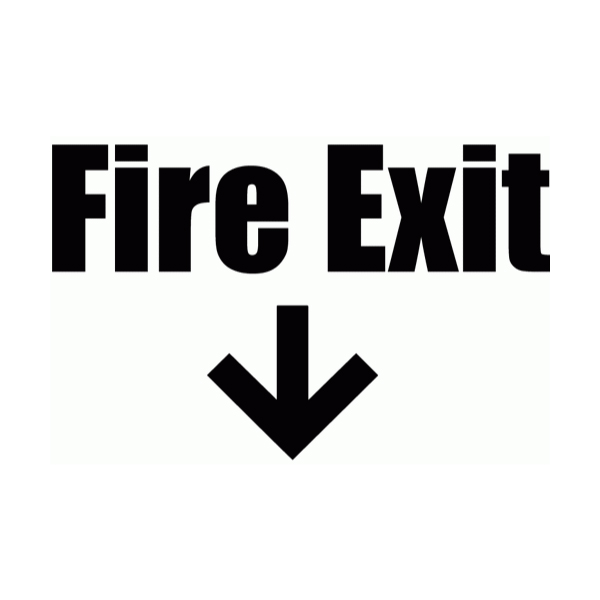 Fire Exit Wall Decal