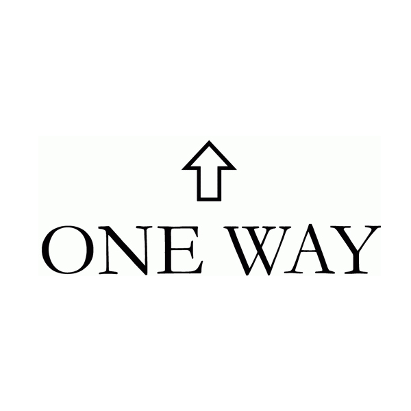 One Way Wall Decal