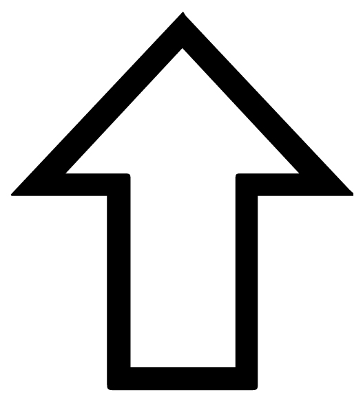 Arrow Seven Pointing up Lettering Art 17 Q Wall Decal