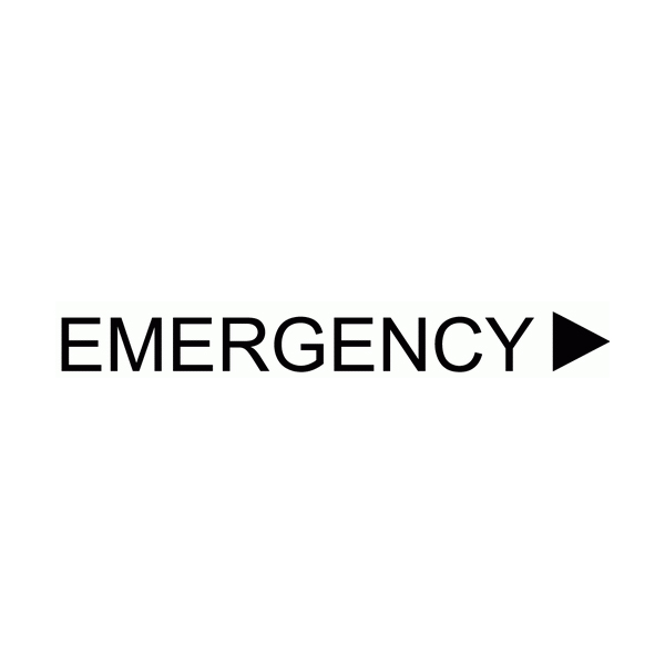 Emergency Wall Decal