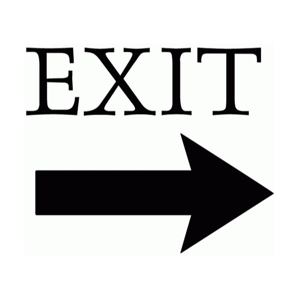 Exit Wall Decal