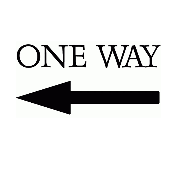 Arrow Ten Pointing Left Lettering Art 17-B Wall Decal