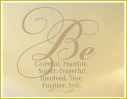 Foyer Word Wall Letters Be Grateful Humble Smart Prayerful