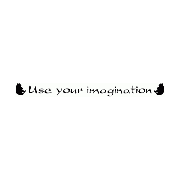 Use your imagination Wall Decal