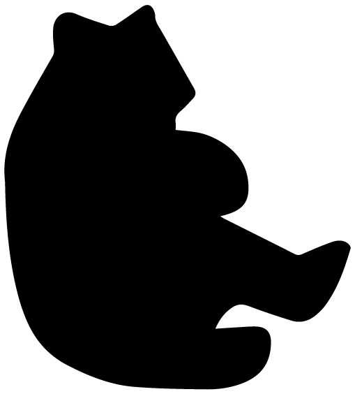 Bear Silhouette A LAK 14 L Animal Wall Decal