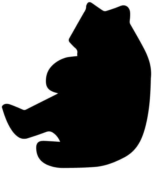 Bear Silhouette B LAK 14 M Animal Wall Decal