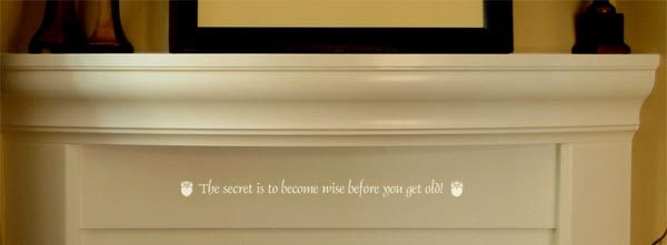 The secret is to become wise before you get old! Wall Decal