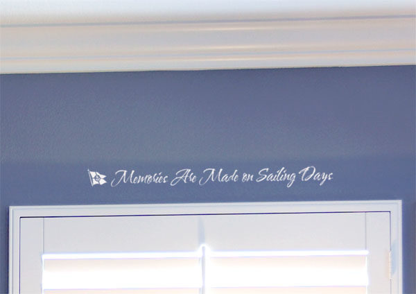 Memories Are Made on Sailing Days Wall Decal
