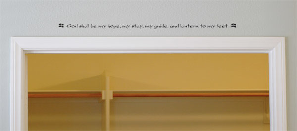 God shall be my hope, my stay, my Wall Decal