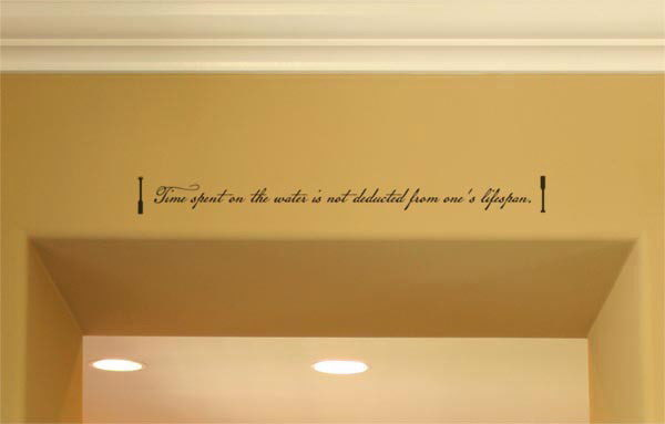 Time spent on the water is not deducted Wall Decal