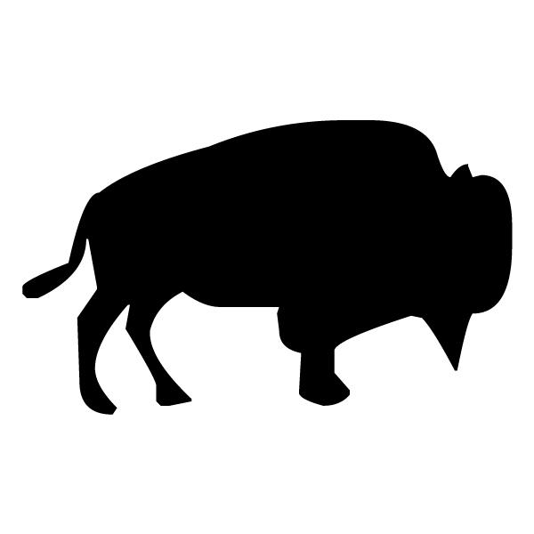 Bull Silhouette A LAK 12-0 Cowboy Wall Decal