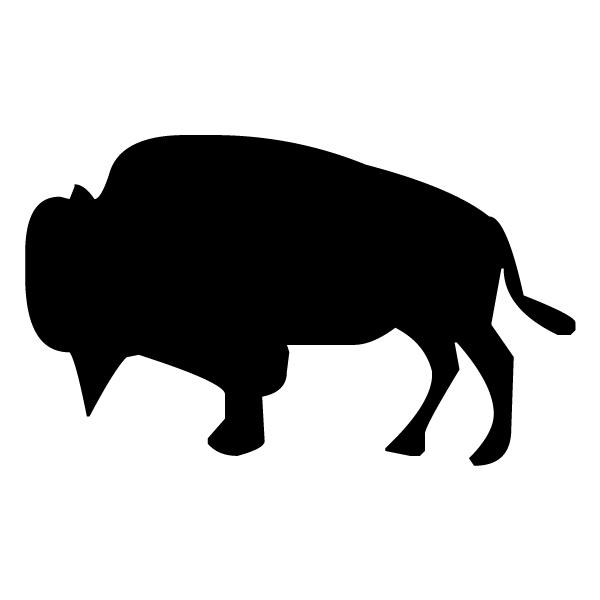 Bull Silhouette B LAK 12-1 Cowboy 2 Wall Decal