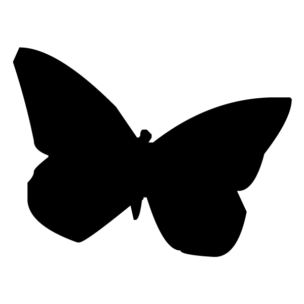 Butterfly Silhouette 1A LAK 3 0 Butterfly Wall Decal