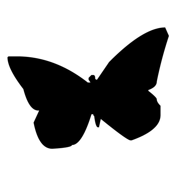 Butterfly Silhouette 1B LAK 3 1 Butterfly Wall Decal