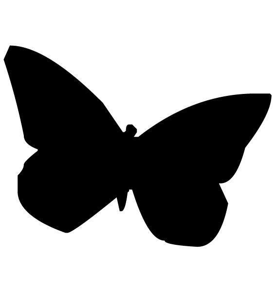 Butterfly Silhouette A LAK 14 H Animal Wall Decal