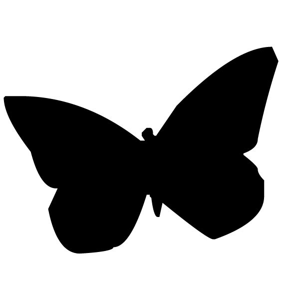 Butterfly Silhouette B LAK 14 I Animal Wall Decal