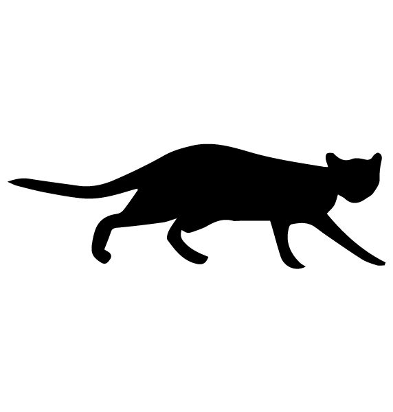 Cat Silhouette 1A LAK 14 N Animal Wall Decal