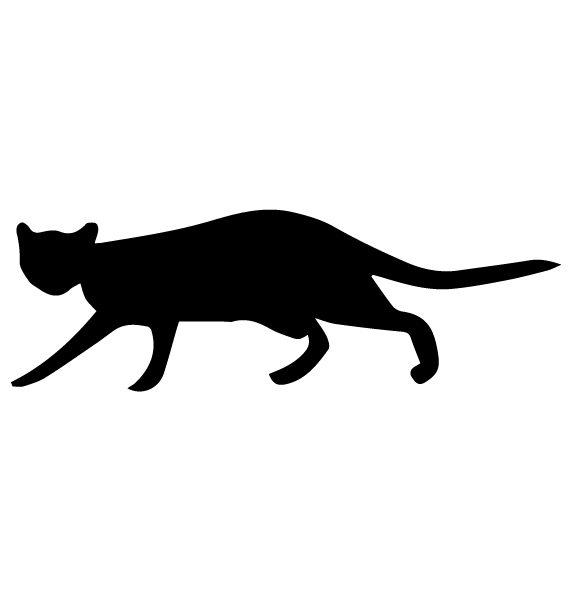 Cat Silhouette 1B LAK 14 O Animal Wall Decal