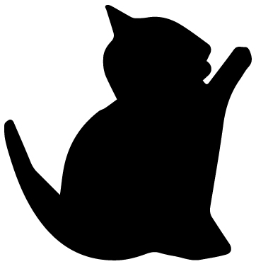 Cat Silhouette 2A LAK 14 T Animal Wall Decal