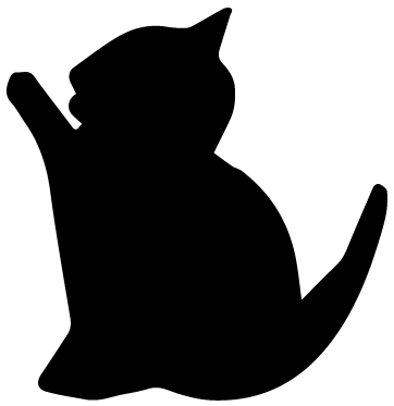 Cat Silhouette 2B LAK 14 U Animal Wall Decal