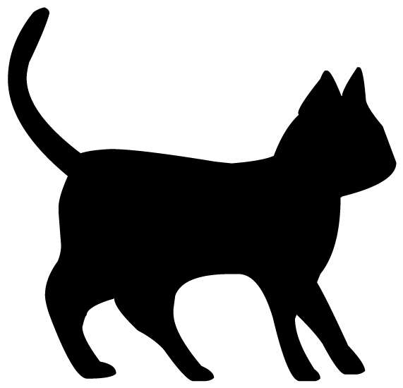 Cat Silhouette 3A LAK 14 e Animal Wall Decal