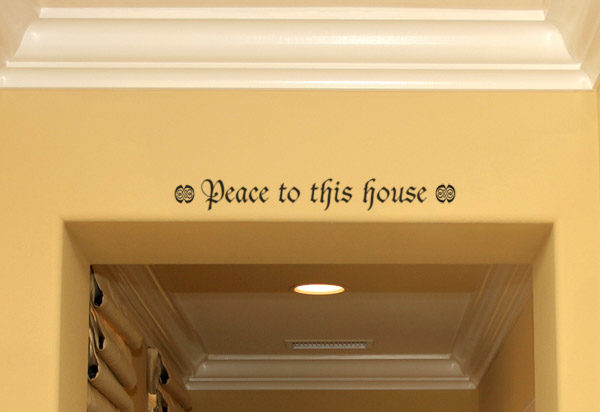 Peace to this house Wall Decal
