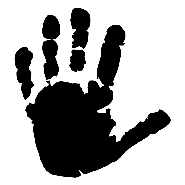 Child left handprint Pair 1 (B) Lettering Art Wall Decal