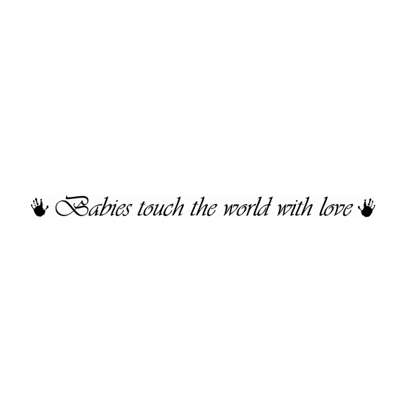 Babies touch the Wall Decal