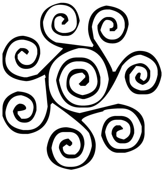 Circular swirl Lettering Art 1-c Wall Decal