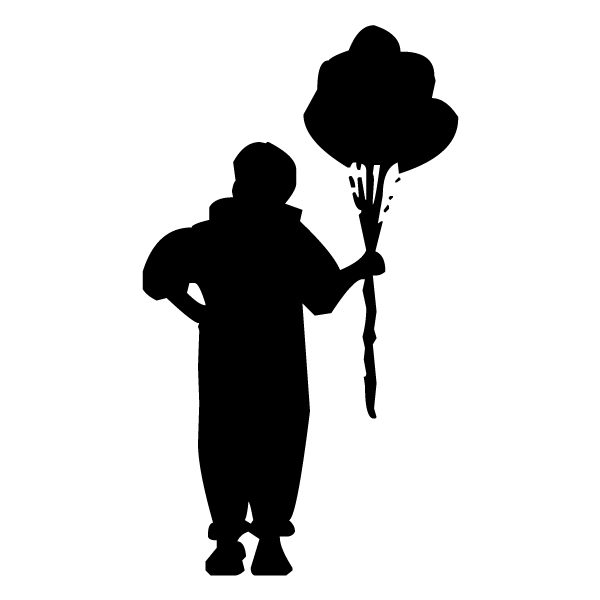 Clown with Balloons B LAK 17-7 Circus Wall Decal