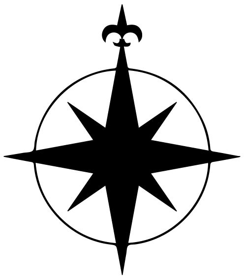 Compass Lettering Art 5 P Wal Decal