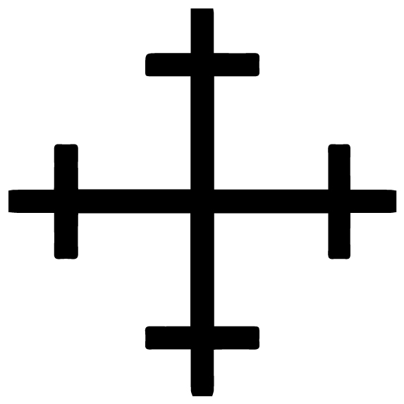 Cross 17 Lettering Art 16-T Wall Decal