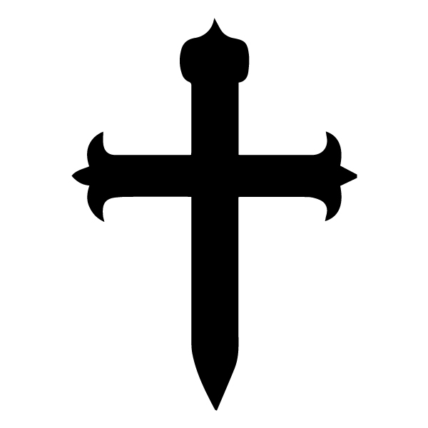 Cross 6 Lettering Art 16-H Wall Decal