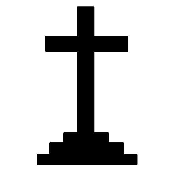 Cross on Pedestal 1 Lettering Art 16-c Wall Decal