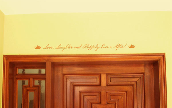 Love, Laughter and Happily Ever After! Wall Decal