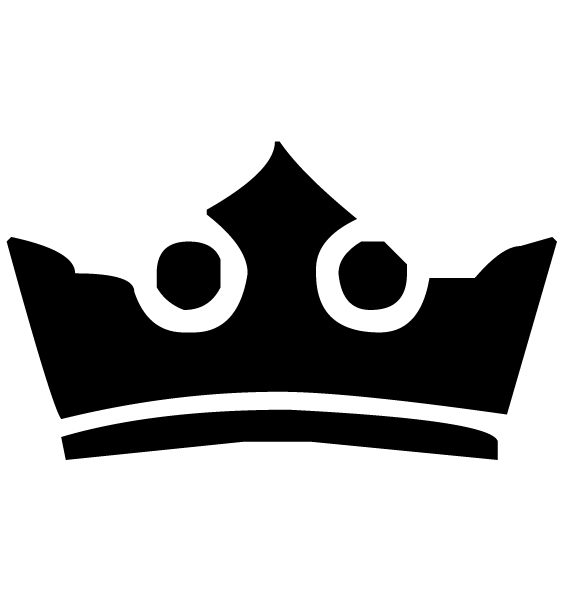 Crown Lettering Art 3-3 Wall Decal