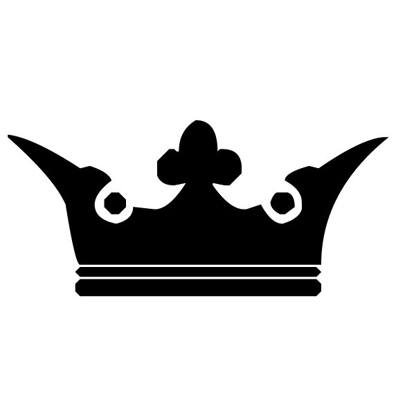 Crown Lettering Art 3-4 Wall Decal