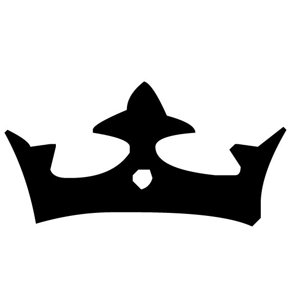 Crown Lettering Art 3-6 Wall Decal
