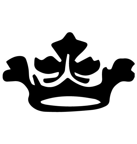Crown Lettering Art 3-D Wall Decal