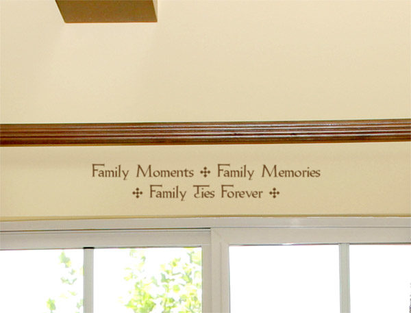Family Moments, Family Memories, family ties forever Wall Decal