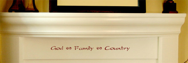 God Family Country Wall Decal