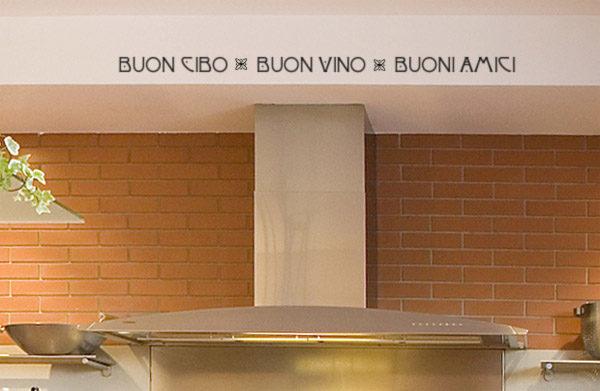 Buon Cibo Buon Vino Buoni Amici Wall Decal