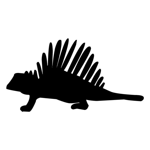 Dinosaur Silhouette 1B LAK 26-5 Dinosaur Wall Decal